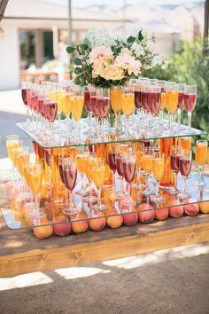 San Luis Obispo wedding Styled by Beijos Events / Photo by Megan Welker / Biddle Ranch Vineyard / Summer wedding cocktails