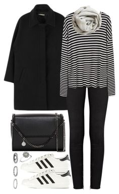 """Untitled #2386"" by plainly-marie ❤ liked on Polyvore featuring J Brand, R13, Brunello Cucinelli, STELLA McCARTNEY, adidas Originals, Forever 21 and Pandora"