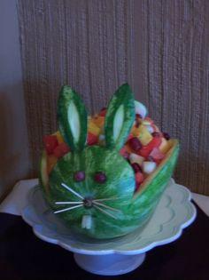 Fruit bowl bunny for Easter