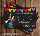 Goofy - Chalkboard Birthday - Thank You Card