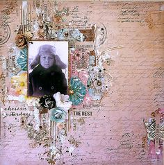 'The Best' Layout by Elena Lishchenko for ~ Scrapbook Pages Scrapbook Cover, Scrapbook Pages, Layout Inspiration, Scrapbooking Layouts, Card Making, Paper Crafts, Projects, Cards, Mixed Media