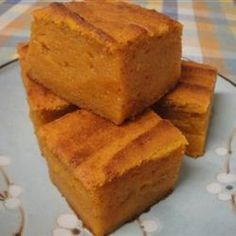 Sweet Pumpkin Mochi. You must make this (but halve the sugar). NOM.