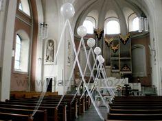 Hochzeitsdeko in der Kirche von www.party-deko24.de  #hannover #luftballons #ballons #luftballongirlanden #dekoservice #veranstaltungsservice #event #eventdeko #events #feier #hochzeitsdeko #kirche #kirchendeko #kirchendekoration #deko #dekoration #helium #heliumballons #ballongas