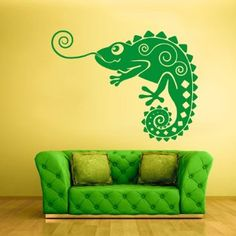 Amazon.com - Wall Vinyl Sticker Decals Decor Iguana Lizard ...