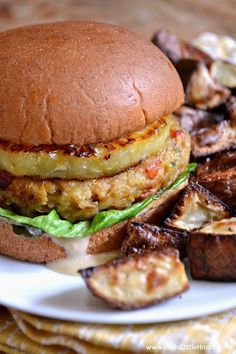 These Vegetarian Teriyaki Burgers are simply mouthwatering! Make this easy veggie burger recipe for dinner tonight! | Hello Little Home