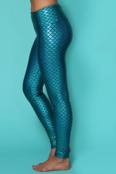 mermaid metallic ho yoga leggings   Purusha People