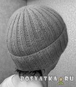 Основы вязания шапок: классическая шапочка с отворотом  Сегодня речь пойдет о том, как связать спицами самую простую и в то же время теплую и удобную шапку.
