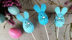 Velikonoční zajíčci do květináče