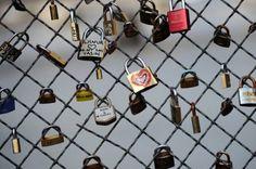 Cadeados do amor ponte de Paris