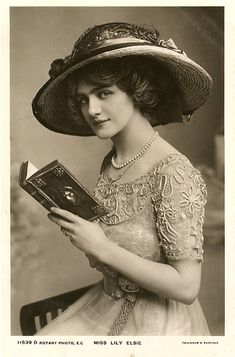 Miss Lily Elsie reading by Chickeyonthego, via Flickr