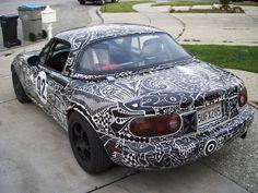 Sharpie Car Art By Chris Dunlop Pinstripe Chris Sharpie Art - Artist wife doodles husbands car