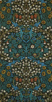 William Morris Wallpaper sheet Color lithograph 41 x 22 in. Minneapolis Institute of Arts - The Collection