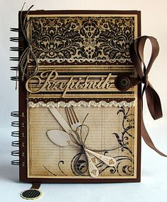 Beautiful journal cover, photo album cover, or recipe cover, depending on how you decorate it.