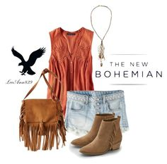 """""""The New Bohemian with American Eagle Outfitters: Contest Entry"""" by leeann829 ❤ liked on Polyvore featuring American Eagle Outfitters"""