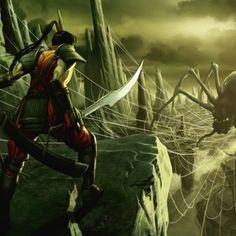 Action Art: Kill the Spider - Digital, Concept art, Fantasy, IllustrationsCoolvibe – Digital Art Fantasy Warrior, Fantasy Art, Warriors Wallpaper, Spider Art, Comic Book Artists, Sci Fi Art, E Design, Wallpaper Backgrounds, Wallpapers