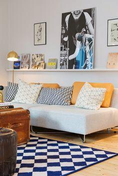 Apartamento pequeno com cor e vintage