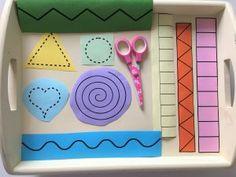 Mit der Schere schneiden üben - Montessori | Der Familienblog für kreative Eltern