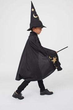 Wizard costume - Black/Stars and moons - Kids | H&M GB 3