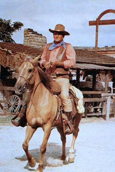 "John Wayne in ""The War wagon"" 1967, with John Wayne, Kirk Douglas, Howard Keel, Joanna Barnes,..."
