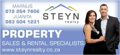 Steyn Realty ..... Assisting buyers & sellers in Roodepoort area  Check out www.steynrealty.co.za