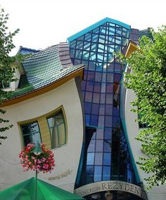 Crookedest house in Sopot Poland