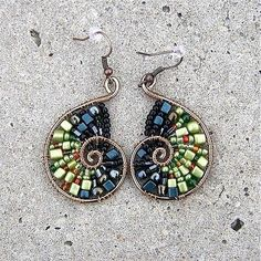Wire and beads earrings. Craft ideas from LC.Pandahall.com