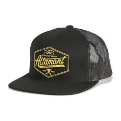 Altamont Cutty mesh trucker hat black