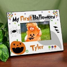 Personalized My First Halloween Picture Frame