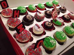 OH -IO! Ohio State Buckeye Kids Cupcakes! OSU Cupcakes - Brutus Cupcakes- Beasley's Buckeye Bakeshop, Plain City, OH