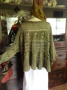 Luv Lucy Crochet Sweater Lucy's Olive Garden  by TheVintageRaven, $175.00