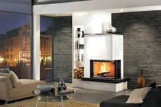 Modern Interior, Interior And Exterior, Interior Design, Living Room With Fireplace, Fireplace Design, Home Hacks, Great Rooms, Living Room Designs, Master Bedroom