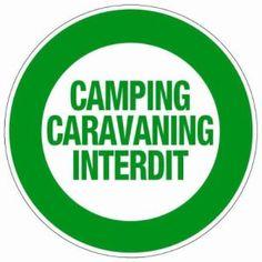 Novap – Panneau – Camping caravaning interdit – Diamètre 300Mm Rigide
