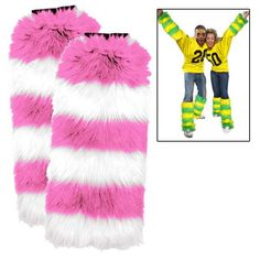 Leg Warmers 2 Pack - Pink/White