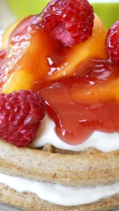 Healthy Peach Melba