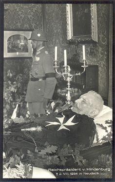 President Paul von Hindenburg laying in state - 1934
