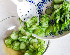 Kyuri asazuke (pickled cucumber) - looks like a great addition to summer salads
