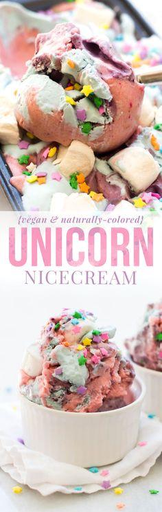 Vegan Unicorn Nice Cream {naturally-colored}