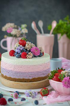 decorar una cheesecake con frutos rojos