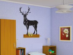 Hunting Deer Sticker Wall Vinyl Elk Buck Mural Man Cave Decoration Gift  #076 #HomeOfStickers