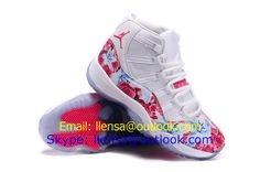 2015 newest womens air jordan 11 retro basketball shoes white pink size 36-40 on http://www.cncheaps.com/