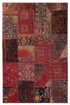 Orientteppich Patchwork Vintage modern Handgeknüpft carpet 239 x 161 cm