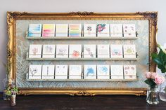 A pretty and practical way to display greeting cards for sale. Studio Visit With Artist Melissa Milakovic