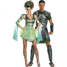 Clash Of The Titans Perseus And Mythical Medusa. This is a gorgeous costume and the photo really doesnu0027t do the shimmery green material at the top justice ...  sc 1 st  Pinterest & Medusa u0026 Perseus costumes | pinned there done that | Pinterest ...