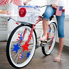 Kids will love adding patriotic flare to their bicycles! More 4th of July crafts for kids: http://www.bhg.com/holidays/july-4th/crafts/patriotic-crafts-for-kids/?socsrc=bhgpin062613bike=3