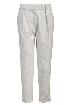 Carven flannel trousers light grey : stylepaste.com