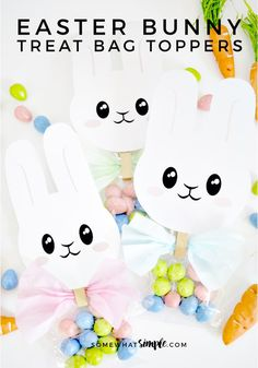 With these Easter Bunny Treat Bag Toppers, everything is right in the world again!