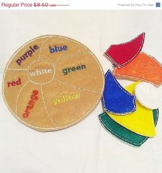 SALE Felt Learn your colors beach ball puzzle game- educational game learning toy perfect for busy bags or quiet books