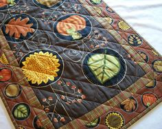 Fall Autumn Table Runner Handmade Quilted by atthebrightspot, $68.00