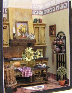 ••  Miniaturas de Susan:  COCINA DEL PAÍS FRANCÉS CON KITTY