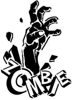 Zombie Hand - Stencil Design